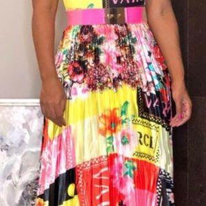 Pleated skirt multi colors